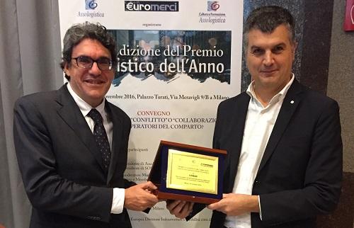"""Conad vince il premio """"Logistico dell'anno 2016"""" di Assologistica con il progetto DELIVERING"""