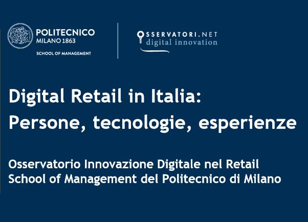 Di.Tech sponsorizza l'edizione 2017 dell'Osservatorio Innovazione Digitale nel Retail del Politecnico di Milano